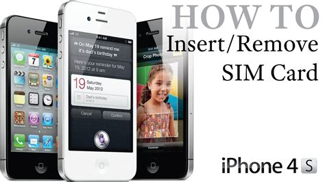 how to into an iphone iphone 4s how to insert remove a sim card