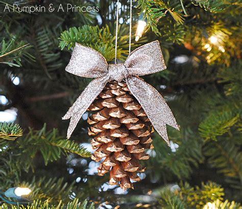 gilded pine cone ornament