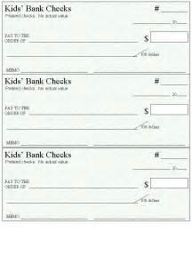 Fake Blank Check Template