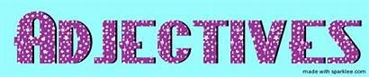 Adjectives Word Words Nouns Adverbs Describe Library