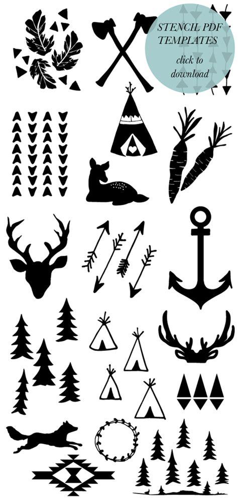 Muy cuqui: Plantilla de animales flechas y tipis indios