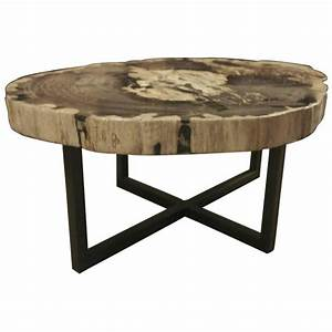 petrified wood extra large extra thick coffee table With thick wood coffee table