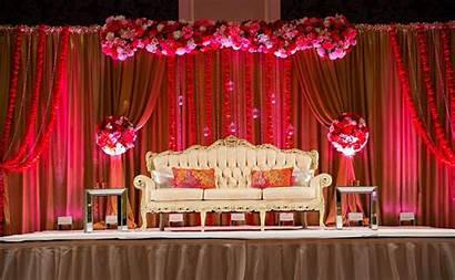 Stage Indian Decorations Backdrop Reception Decoration Simple