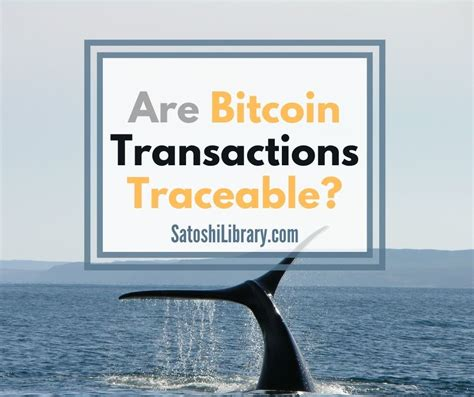 While bitcoin is traceable, tracing the entire chain of transactions can be a daunting task how is bitcoin traceable? Are Bitcoin Transactions Traceable?😩Bitcoin Users have ...