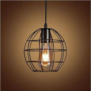 vintage iron pendant light industrial lighting nordic With country style hanging light fixtures