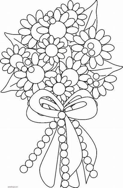 Flores Dibujos Colorear Ramo Pintar Ramos Fiestas