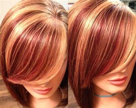 Hair Color Ideas, Two Tone Hair Color Brown And Red 2015