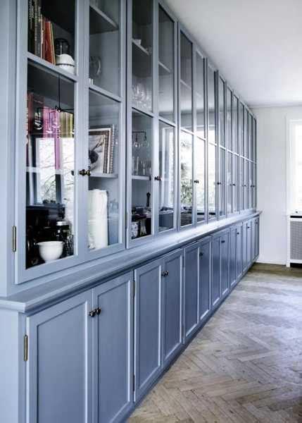 modern kitchen paint colors cool blue paint  wood