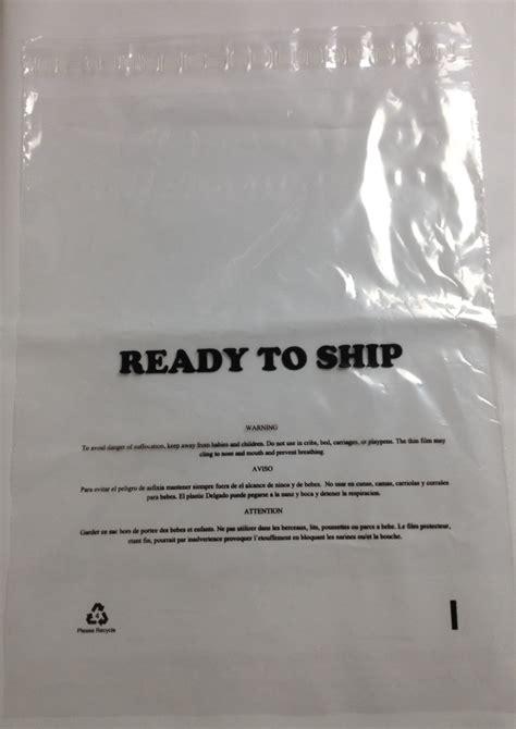 mil lip permanent tape poly bag printed  suffocation warning ready  ship