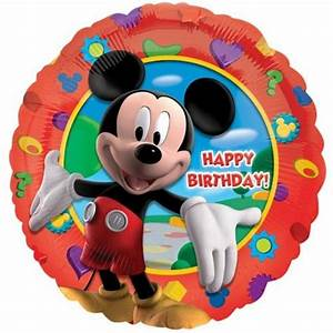 Happy Birthday Mickey Mouse : mickey mouse clubhouse happy birthday foil balloon 18 45cm amscan 14055 ~ Buech-reservation.com Haus und Dekorationen
