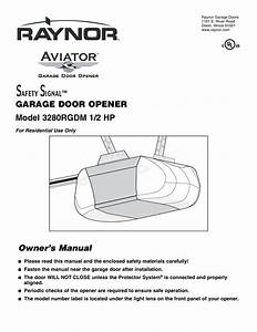 Raynor Garage Door Opener Parts