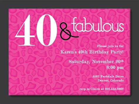 40th Birthday Ideas: 40th Birthday Invitation Templates