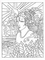 Hidden Coloring Needles Knitting Faces Template Coloriage Knitpicks Enregistree Depuis Fille sketch template