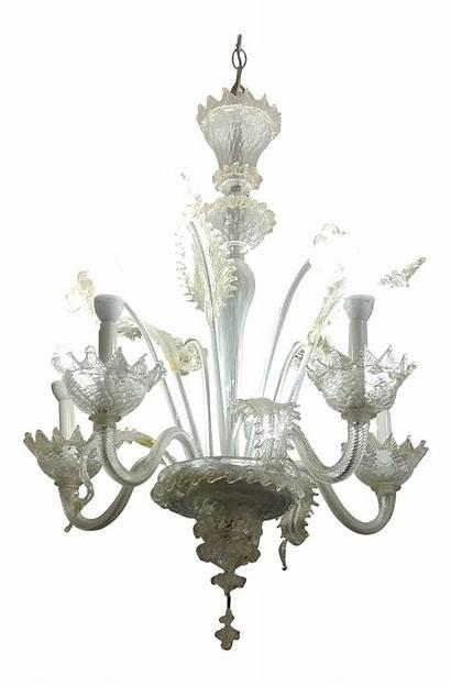 Murano Chandelier Glass Candle Chairish