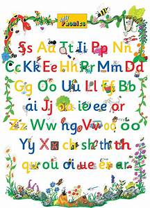 pin posters and wall charts jolly phonics tricky word With letter sounds poster