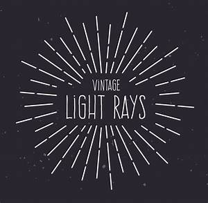 12 Vintage Rays Vector Images - Vintage Style Light Ray ...