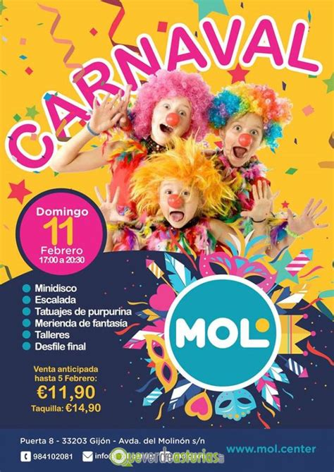 carnaval infantil  en mol center actividades