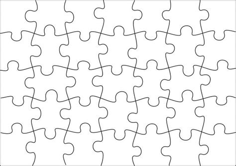 Puzzle Template To Create Your Own Puzzles (more Sizes On