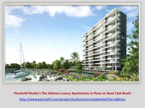 Address Of Boat Club Pune by Panchshil Realty S The Address Luxury Apartments In Pune