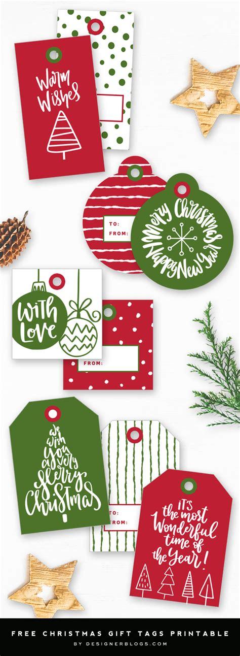 christmas gift tags printable designer blogs