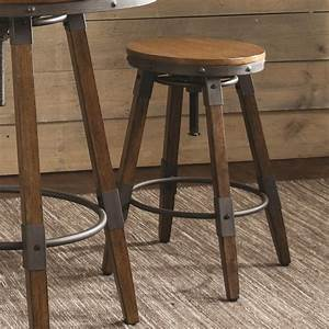Hornell, Rustic, Adjustable, Stool, To, Counter, Or, Bar, Height