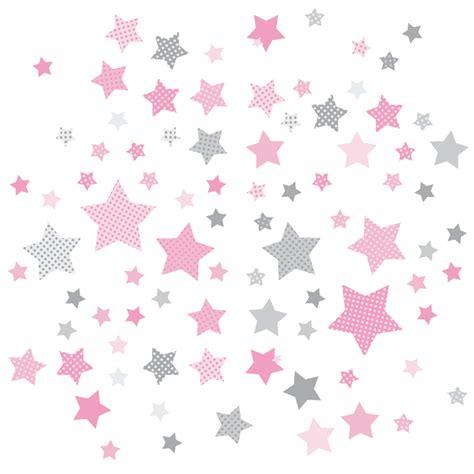 babyzimmer rosa grau dinki balloon kinderzimmer wandsticker sterne rosa grau 68 teilig bei fantasyroom kaufen