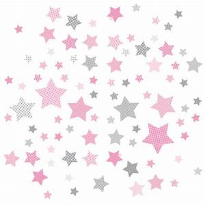 Sterne Deko Kinderzimmer : dinki balloon kinderzimmer wandsticker sterne rosa grau 68 teilig bei fantasyroom online kaufen ~ Markanthonyermac.com Haus und Dekorationen