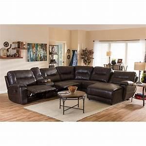Acme furniture vogue chocolate micro fiber sectional sofa for 6 piece microfiber sectional sofa