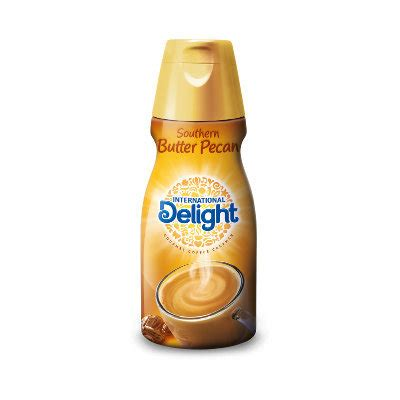 Starting with a yellow cake mix, then replace the water with southern butter pecan gourmet coffee creamer, eggs and butter and baked according to the directions on the box in a 13×9 pan. International Delight Coffee Creamer Southern Butter Pecan Reviews 2019