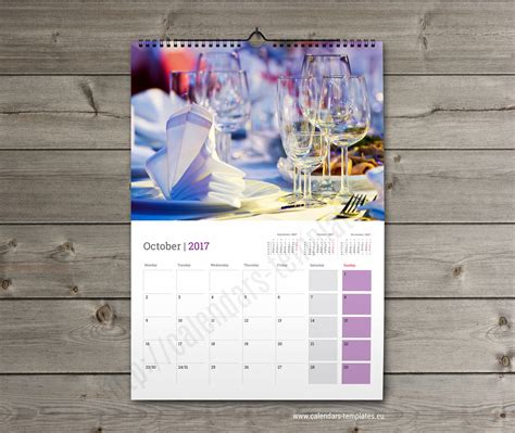 Wall Monthly Printable Multipage Calendar Planner Template KW13-W18 | Calendar Template