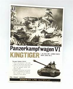 Bandai King Tiger Panzerkampfwagen Vi 1  48 Manual