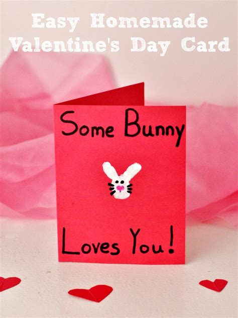 You also can select plenty of linked ideas right here!. Easy Homemade Some Bunny Love You Valentine's Day Card ...