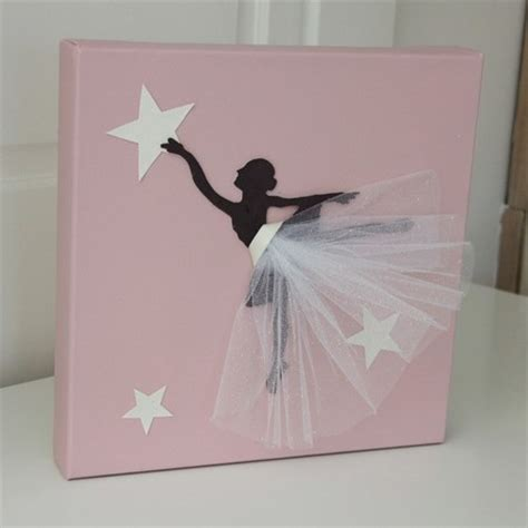 cadre chambre fille cadre danseuse tutu blanc décoration chambre danseuse