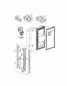 Refrigerator Left Door Diagram  U0026 Parts List For Model