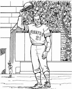 Pittsburgh Pirates Player Baseball Coloring Page Purple