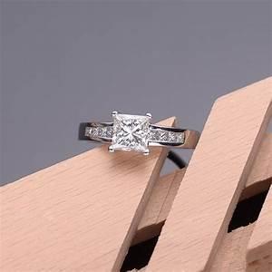 Lustrous Inexpensive Engagement Ring 1.00 Carat Princess ...