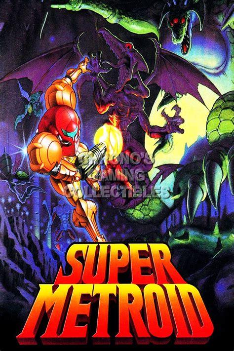 Rgc Huge Poster Super Metroid Samus Aran Nintendo Nes