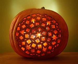 An, Awesome, Jack-o-lantern, Laser-cut, With, A, Beautiful, Intricate, Pattern