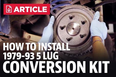 fox body mustang  lug conversion install video