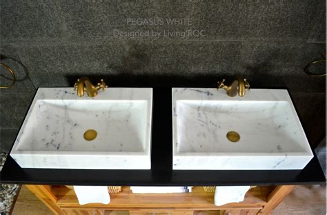 white marble basin bathroom sink faucet hole pegasus