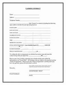 20 printable blank contract template examples thogati With catering contracts templates