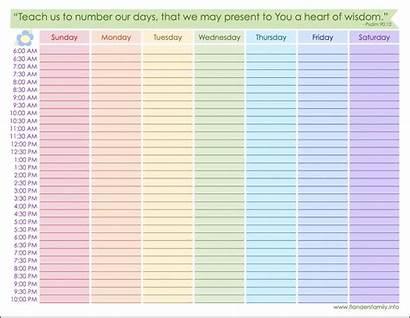 Weekly Schedule Printable Calendar Template Planner Homelife