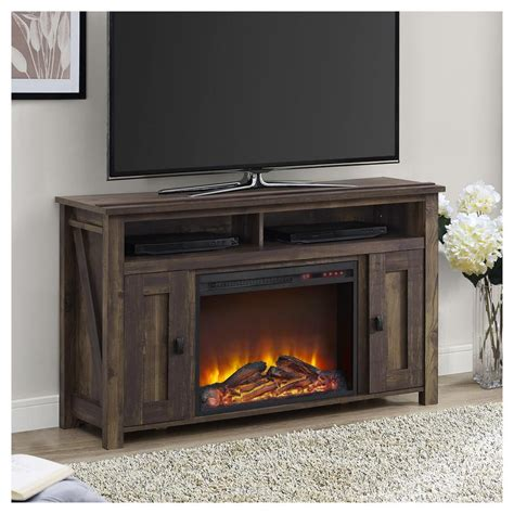 tv stands with fireplaces ameriwood farmington heritage pine place