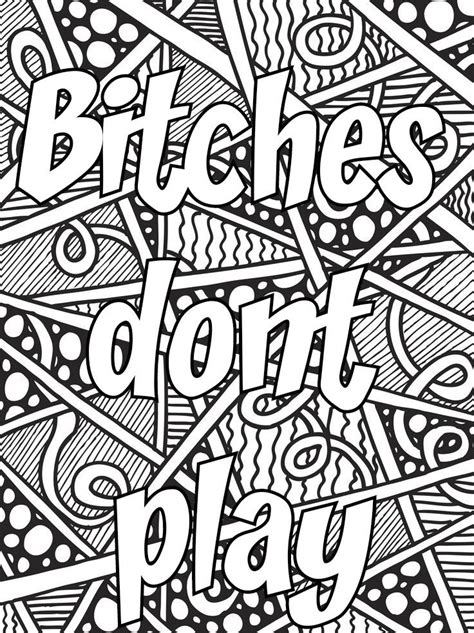 pin  valarie ante  color  sweary coloring pages  adult coloring printables adult