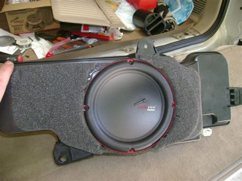 replacing oem subwoofer   row page