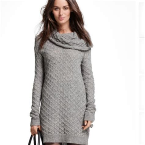 gray sweater dress h m grey cowl neck knit sweater dress from marty 39 s