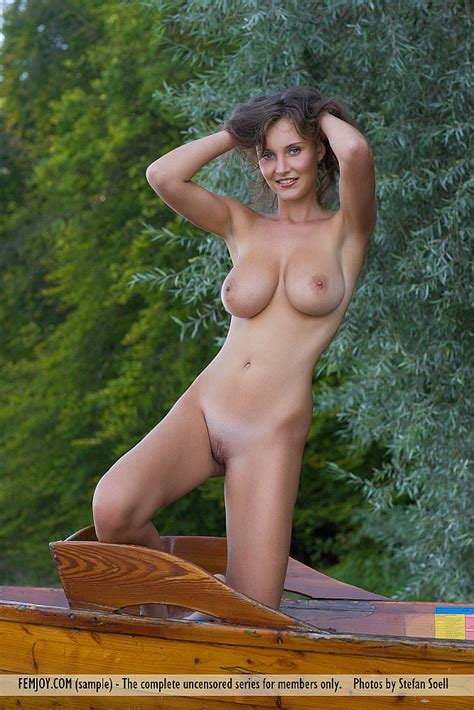 Busty German Brunette Ashley Strips Off All Her Clothes