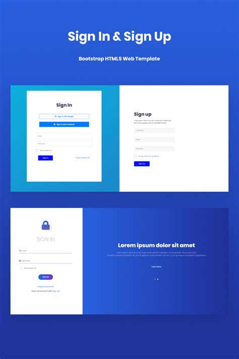 sign  sign  template html bootstrap
