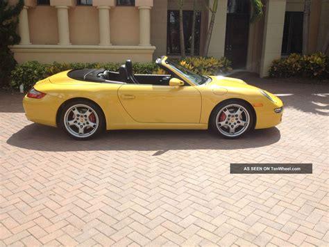2005 Porsche 911 Carrera S Cabriolet 997 Speed Yellow