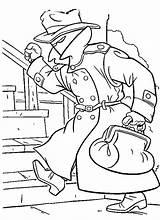 Detective Coloring Netart sketch template